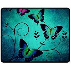 Texture Butterflies Background Double Sided Fleece Blanket (medium)