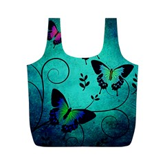 Texture Butterflies Background Full Print Recycle Bags (m)