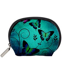 Texture Butterflies Background Accessory Pouches (small)