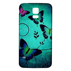 Texture Butterflies Background Samsung Galaxy S5 Back Case (white)