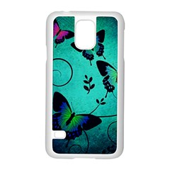 Texture Butterflies Background Samsung Galaxy S5 Case (white)