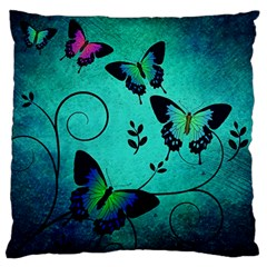 Texture Butterflies Background Large Flano Cushion Case (two Sides)
