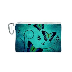 Texture Butterflies Background Canvas Cosmetic Bag (s)