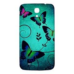 Texture Butterflies Background Samsung Galaxy Mega I9200 Hardshell Back Case