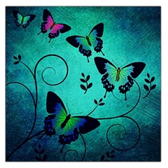 Texture Butterflies Background Large Satin Scarf (square)