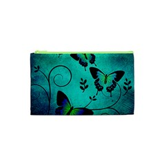 Texture Butterflies Background Cosmetic Bag (xs)