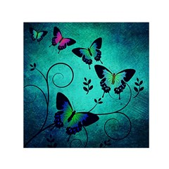 Texture Butterflies Background Small Satin Scarf (square)