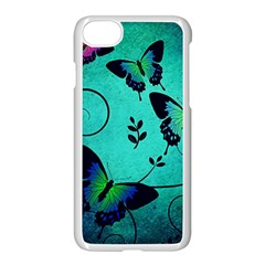 Texture Butterflies Background Apple Iphone 7 Seamless Case (white)
