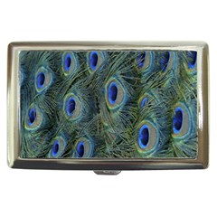 Peacock Feathers Blue Bird Nature Cigarette Money Cases