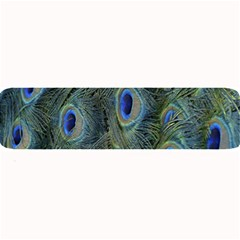 Peacock Feathers Blue Bird Nature Large Bar Mats