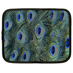 Peacock Feathers Blue Bird Nature Netbook Case (Large)