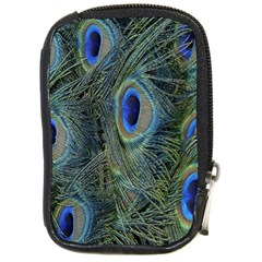 Peacock Feathers Blue Bird Nature Compact Camera Cases