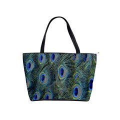 Peacock Feathers Blue Bird Nature Shoulder Handbags