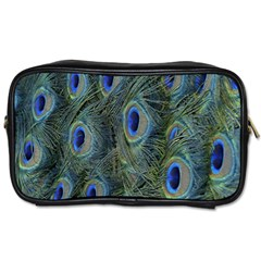 Peacock Feathers Blue Bird Nature Toiletries Bags
