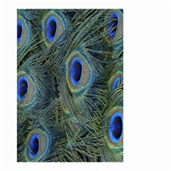 Peacock Feathers Blue Bird Nature Small Garden Flag (two Sides)