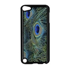 Peacock Feathers Blue Bird Nature Apple Ipod Touch 5 Case (black)