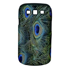 Peacock Feathers Blue Bird Nature Samsung Galaxy S Iii Classic Hardshell Case (pc+silicone)