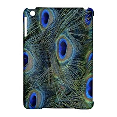 Peacock Feathers Blue Bird Nature Apple Ipad Mini Hardshell Case (compatible With Smart Cover)