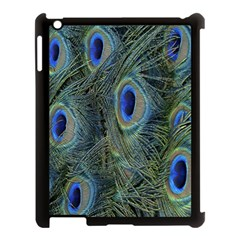 Peacock Feathers Blue Bird Nature Apple Ipad 3/4 Case (black)