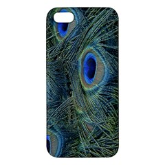 Peacock Feathers Blue Bird Nature Apple Iphone 5 Premium Hardshell Case
