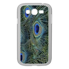 Peacock Feathers Blue Bird Nature Samsung Galaxy Grand Duos I9082 Case (white)