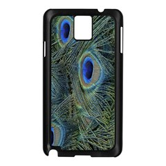 Peacock Feathers Blue Bird Nature Samsung Galaxy Note 3 N9005 Case (black)