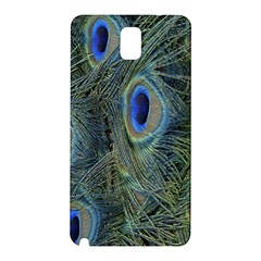 Peacock Feathers Blue Bird Nature Samsung Galaxy Note 3 N9005 Hardshell Back Case
