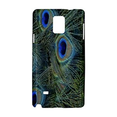 Peacock Feathers Blue Bird Nature Samsung Galaxy Note 4 Hardshell Case