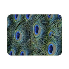 Peacock Feathers Blue Bird Nature Double Sided Flano Blanket (mini)