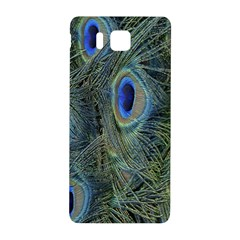 Peacock Feathers Blue Bird Nature Samsung Galaxy Alpha Hardshell Back Case