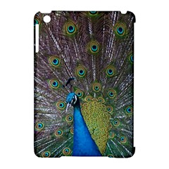 Peacock Feather Beat Rad Blue Apple Ipad Mini Hardshell Case (compatible With Smart Cover)