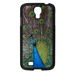 Peacock Feather Beat Rad Blue Samsung Galaxy S4 I9500/ I9505 Case (black)