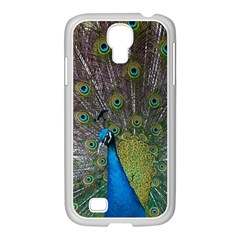 Peacock Feather Beat Rad Blue Samsung Galaxy S4 I9500/ I9505 Case (white)