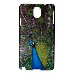 Peacock Feather Beat Rad Blue Samsung Galaxy Note 3 N9005 Hardshell Case