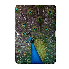 Peacock Feather Beat Rad Blue Samsung Galaxy Tab 2 (10 1 ) P5100 Hardshell Case