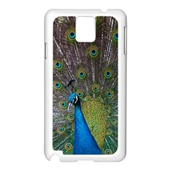Peacock Feather Beat Rad Blue Samsung Galaxy Note 3 N9005 Case (white)