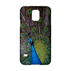 Peacock Feather Beat Rad Blue Samsung Galaxy S5 Hardshell Case