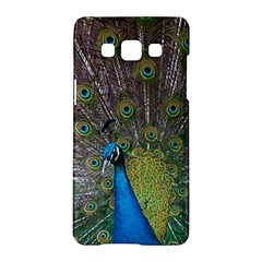 Peacock Feather Beat Rad Blue Samsung Galaxy A5 Hardshell Case