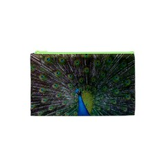 Peacock Feather Beat Rad Blue Cosmetic Bag (xs)