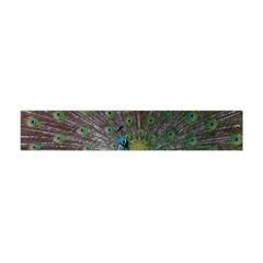 Peacock Feather Beat Rad Blue Flano Scarf (mini)