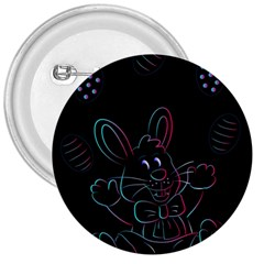 Easter Bunny Hare Rabbit Animal 3  Buttons