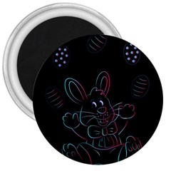 Easter Bunny Hare Rabbit Animal 3  Magnets
