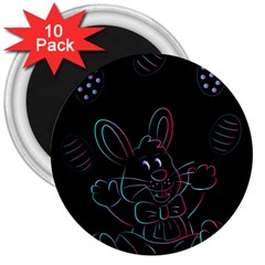 Easter Bunny Hare Rabbit Animal 3  Magnets (10 pack)