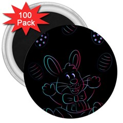 Easter Bunny Hare Rabbit Animal 3  Magnets (100 Pack)