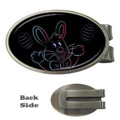 Easter Bunny Hare Rabbit Animal Money Clips (oval)