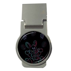 Easter Bunny Hare Rabbit Animal Money Clips (round)