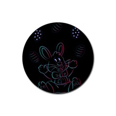 Easter Bunny Hare Rabbit Animal Rubber Coaster (round)