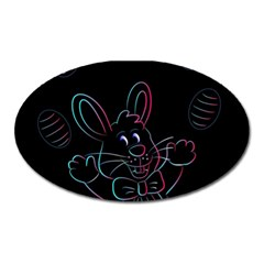 Easter Bunny Hare Rabbit Animal Oval Magnet