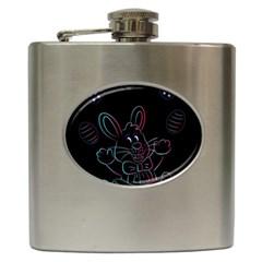 Easter Bunny Hare Rabbit Animal Hip Flask (6 Oz)