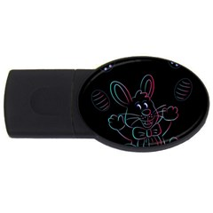 Easter Bunny Hare Rabbit Animal Usb Flash Drive Oval (4 Gb)